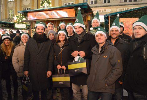 Das intelliAd Team auf dem Weihnachtsmarkt